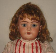 """Antique 20"""" Heinrich Handwerck Bisque Socket Head Doll #109   MZ8"""