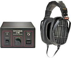 Koss ESP-950 Electrostatic Stereophone Stystem. Incorporates state of the art electrostatic transducer technology Electrostatic element with a fast, low mass diaphragm provides low distortion Pivoting ear cups and adjustable, detachable headband for comfort and convenience www.needledoctor.com