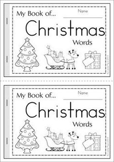 Most Popular Teaching Resources: My Book of...Christmas Words {FREE}