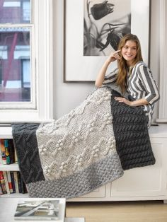 #Free #Knitting #Pattern: Neutral Cabled Afghan