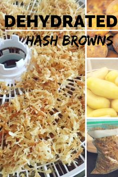 Easy to store, easy to make. Dehydrated hash browns are a surprisingly delicious way to use up potatoes! Dehydrated Vegetables, Dehydrated Onions, Dried Vegetables, Fruits And Veggies, Dehydrated Food Recipes, Dehydrated Camping Food, Healthy Recipes, Hash Browns, Dehydrate Potatoes