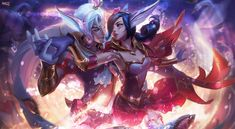 League of Legends - SWEETHEART XAYAH and RAKAN by Massi001