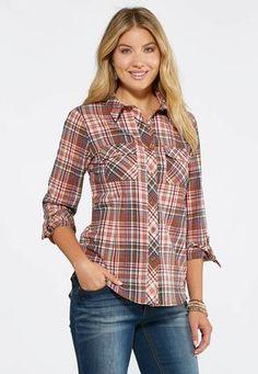 a367f0e5ae1 Cato Fashions Plaid Boyfriend Shirt  CatoFashions Boyfriend Shirt