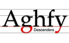 Descender: The lowest portion of letters such as 'g,' 'j,' 'p.' 'q,' and 'y' that extends below the baseline, or reading line of type. (See descender line.) The portion of a lowercase letter that extends below the base line of the letter. Above The Line, Typographic Design, Word Play, Vocabulary Words, Body Size, Lower Case Letters, Funny Design, Design Reference, Graphic Design Inspiration