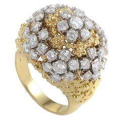 2014 Fashion imitate diamond big flower Crystal Engagement wedding Rings For real gold plated female bridal accessory Diamond Rings, Diamond Jewelry, Jewelry Rings, Fine Jewelry, Gold Jewelry, Jewellery, Fashion Rings, Fashion Jewelry, Color Dorado