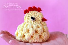This is a crochet PDF pattern for Crochet Chicks. The pattern is very detailed and is written in standard American terms. The cute little chicks that you can create with this pattern are about 3 inches cm) long, inches cm) wide and inches cm) tall. Easter Crochet Patterns, Crochet Birds, Crochet Animals, Crochet Crafts, Crochet Toys, Free Crochet, Knitting Patterns, Knit Crochet, Ravelry Crochet