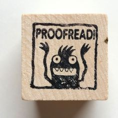 Proofread - Monster rubber stamp for teachers Technical Communication, Proofreader, Custom Stamps, Wood Blocks, Are You The One, Stationery, Teacher, Etsy, Cards