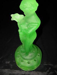 Vaseline Glass Green Uranium Glass Depression by greenleafvintage1, $215.99