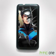 Batman Crashed Glass for HTC One M7/M8/M9 phonecases