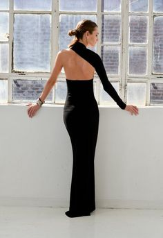 Formal Maxi Dress / One Shoulder Dress / Black Dress / Prom Dress / Cocktail Dress / Unique Designer Dress / Marcellamoda - Abendkleid / Schwarzes Kleid / One-Shoulder-Kleid / Cheap Prom Dresses, Unique Dresses, Beautiful Dresses, Formal Dresses, Dress Prom, Pretty Dresses, Casual Dresses, Fall Dresses, Elegant Dresses