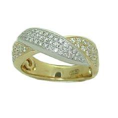 0.75 Cttw. Diamond Ring https://www.goldinart.com/shop/rings/diamond-rings/0-75-cttw-diamond-ring #14KaratYellowWhiteGold, #DiamondRing