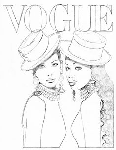 Color Your Favorite Vogue Paris Covers Fashion Sketches Coloring