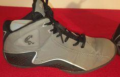 Mens Size 6 Shaq Basketball Shoes Size 6 Gray Black Sports Athletic Shoes #Shaq #BasketballShoes