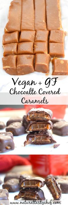 Vegan and Gluten Free Chocolate Covered Caramels