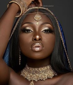 Best bridal makeup for brown eyes dark skin wedding black women Ideas Beautiful Black Girl, Black Girl Art, Dark Skin Makeup, Dark Skin Beauty, Black Beauty, Black Girl Aesthetic, Black Bride, Wedding Black, Girls Makeup