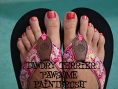 """@TawdryTerrier """"Pawsome Paintbrush"""" (SOLD OUT) - check out our polishes at https://www.etsy.com/shop/TawdryTerrier #nailpolish #indienailpolish #tawdryterrier"""