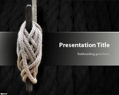 Free Knot PowerPoint template is a free presentation slide design for Microsoft PowerPoint including a white rope with knots in the slide design