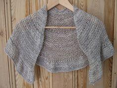 alpaca de seda shawlette