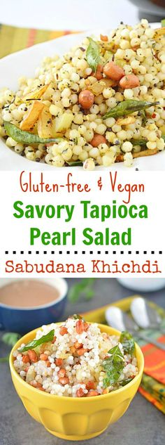 Step by step recipe on how to make perfect tapioca pearls. A gluten-free & vegan Indian snack. A quick and delicious Sabudana khichdi or tapioca pearl salad cooked with potatoes, peanuts and basic spices creates the most comforting meal out there.