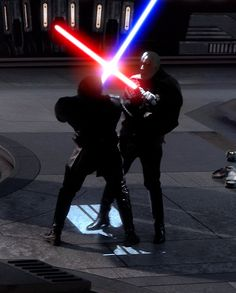 Anakin and Count Dooku<---- Am I the only one who believes Dooku might be Anakin's actual father?