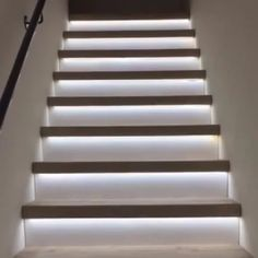 Home Stairs Design, Home Room Design, Modern House Design, Home Interior Design, Interior Decorating, Stairs Light Design, Modern Stairs Design, Motion Sensor Closet Light, Light Sensor