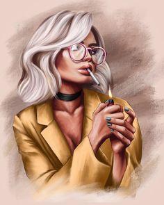 Mother Daughter Art, Gothic Fantasy Art, Girly M, Pin Up, Girly Drawings, Aesthetic Indie, Digital Art Girl, Human Art, Graphic Design Art