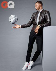 NBA Star #Andrew Wiggins in November #GQ wearing #DavidYurman 18k Yellow Gold Box Chain Bracelet