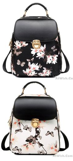 Fresh Girl Butterfly Flower School Bag Casual Backpack is so cute !  flower   Butterfly c6ca0e283da90