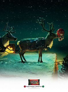 Poor M : Creative Christmas Ads and Posters Creative Advertising, Advertising Design, Advertising Campaign, Christmas Print, Christmas Poster, Funny Christmas, Noel Christmas, Christmas Signs, Christmas Colors