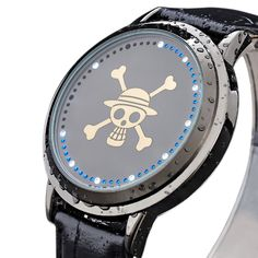 Xcoser One Anime Piece LED Watch Cool Anime Watch Alloy LED Watch >>> Click image to review more details.