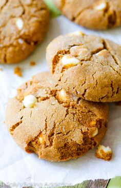 Soft and chewy brown sugared molasses cookies with lots of sweet white chocolate chips. One of my...