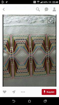 Discover thousands of images about Huck Embroidery / Punto Yugoslavo / Swedish Weaving / Bordado Vagonite Cross Stitch Embroidery, Embroidery Patterns, Hand Embroidery, Canvas Template, Bordado Tipo Chicken Scratch, Huck Towels, Swedish Weaving Patterns, Swedish Embroidery, Chicken Scratch Embroidery