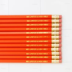 Engraved Pencils by