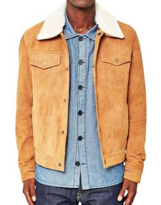 the idle man mens suede jacket