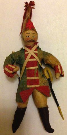 Hessian soldier spun cotton Christmas ornament. SOLD $293 Oct 11, 2014 eBay