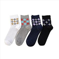 QASocks Cool Winter Knee High Fashion Hiking Athletic Compressiongraphic Men's Novelty Socks (5 Pair) ** Check this awesome product by going to the link at the image.