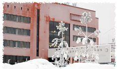 Kokkola University Consortium Chydenius in the winter.