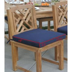 Willow Creek Designs Outdoor Sunbrella Dining Chair Cushion Fabric: Clinton Granite