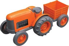 Little farmers will love hauling all their crops in this bright tractor and detachable trailer. Like all Green Toys products, it's made from recycled plastic and ships in recycled packaging, making for an entirely energy-efficient vehicle. Cool Toys For Boys, Best Kids Toys, Plastic Milk, Green Toys, Ride On Toys, Christmas Gifts For Kids, Vegan Christmas, Christmas Ideas, Top Toys
