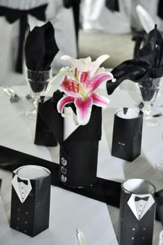 Gay Wedding Decor - great idea for the male and male favour boxes we have @marrymegay.com.au fill them with shot glasses and whatever you like.