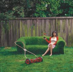 a sod couch. looks cool!