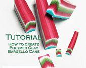 Polymer Clay PDF tutorial - The Bargello Cane technique