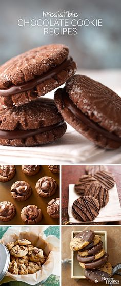 Who doesn't love chocolate cookies? We have our favorite recipes to share with you here: http://www.bhg.com/recipes/desserts/cookies/chocolate-cookies/?socsrc=bhgpin112513chocolatecookies