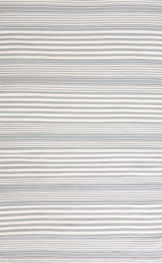 Rugby Light Blue Striped Indoor/Outdoor Area Rug