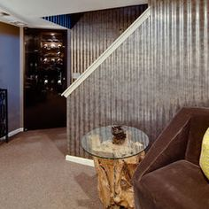 Basement Remodel - modern - basement - minneapolis - Dwelling Designs
