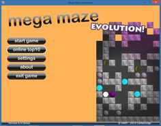 My first game 'Mega Maze Evolution' created in 2008.