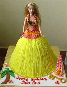 hula cake | Barbie-Hawaii | Flickr - Photo Sharing!