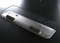 Glass Multi-Touch Keyboard