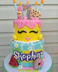 SHOPKINS cake topper set, fondant, birthday cake decor, ENTIRE SET, choose your characters! Shopkins Cake Toppers, Shopkins Birthday Cake, Fondant Cake Toppers, Fondant Cakes, Elmo Birthday, Birthday Ideas, Sesame Street Birthday Cakes, Cake Logo, Cake Shop