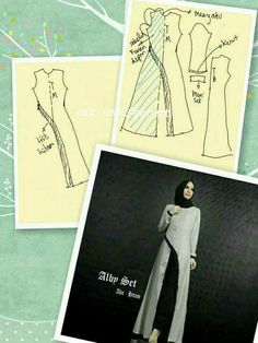 27 likes 1 commentsModel gmis pesta b.Hijab Fashion - Hijab Dresses 2018 What's New Check out our collections of Beautiful hijabsClothing For Muslim Women Pattern Cutting, Pattern Making, Dress Sewing Patterns, Clothing Patterns, Fashion Sewing, Diy Fashion, Sewing Hacks, Sewing Tutorials, Abaya Pattern